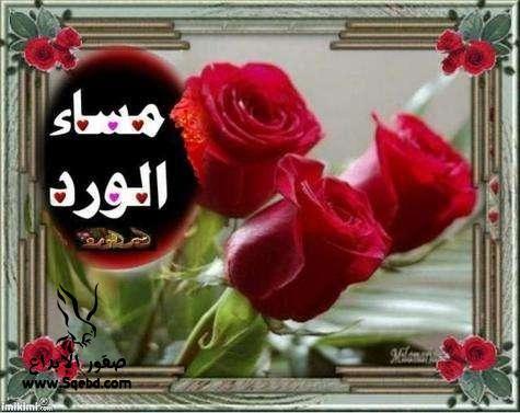 صور بطاقات مساء الورد , مساء الورد و الحب