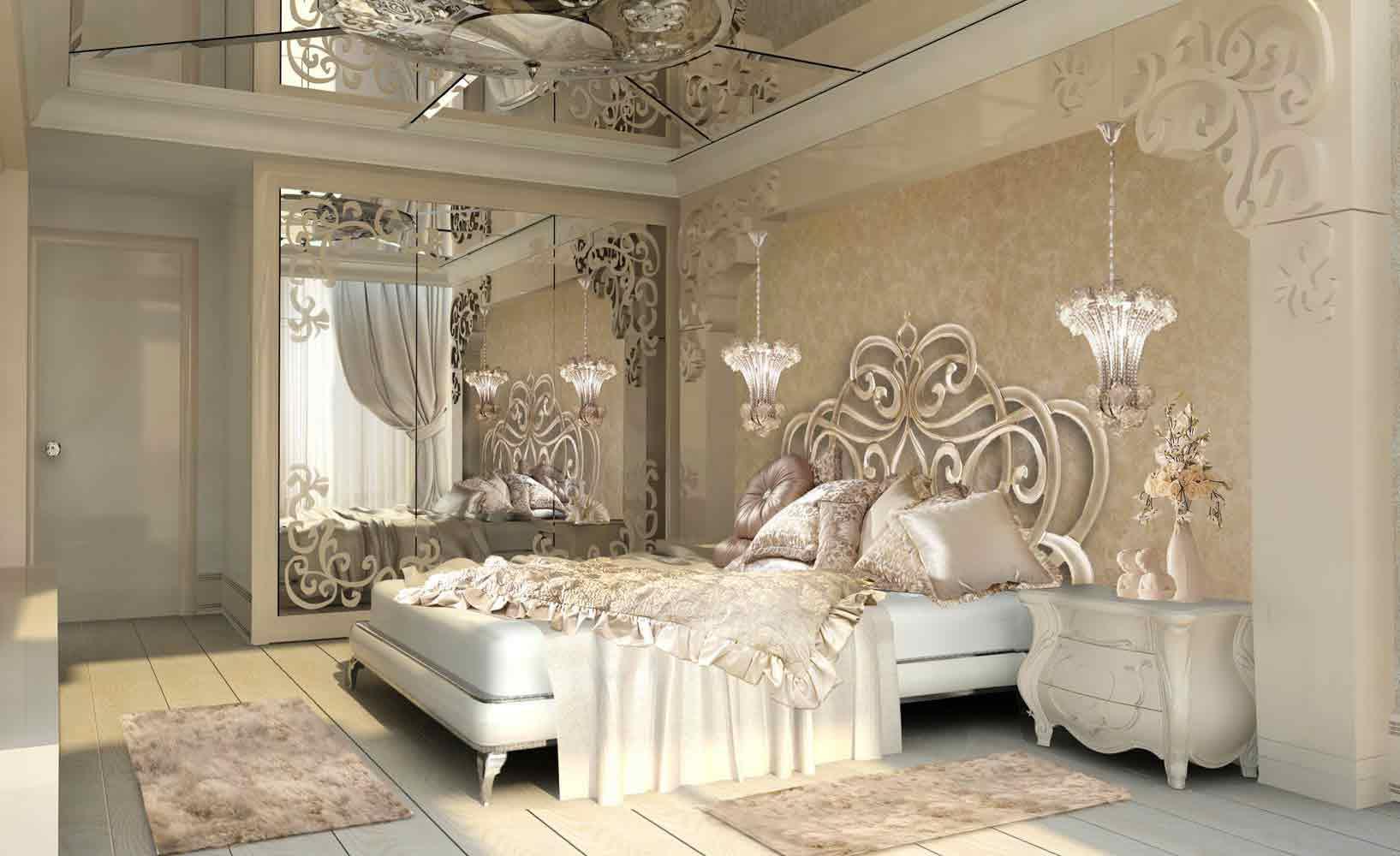 غرف نوم فخمه اجمل الصور لغرف النوم المتوجة بالفخامة