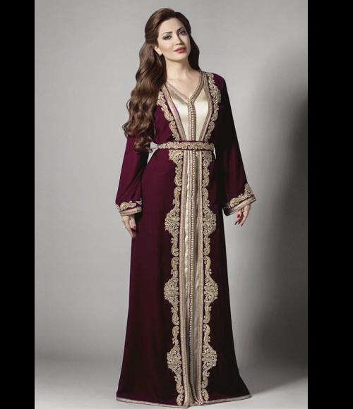 بالصور قفطان مغربي عصري , الزي التقليدي المغربي في صورته العصرية 1214