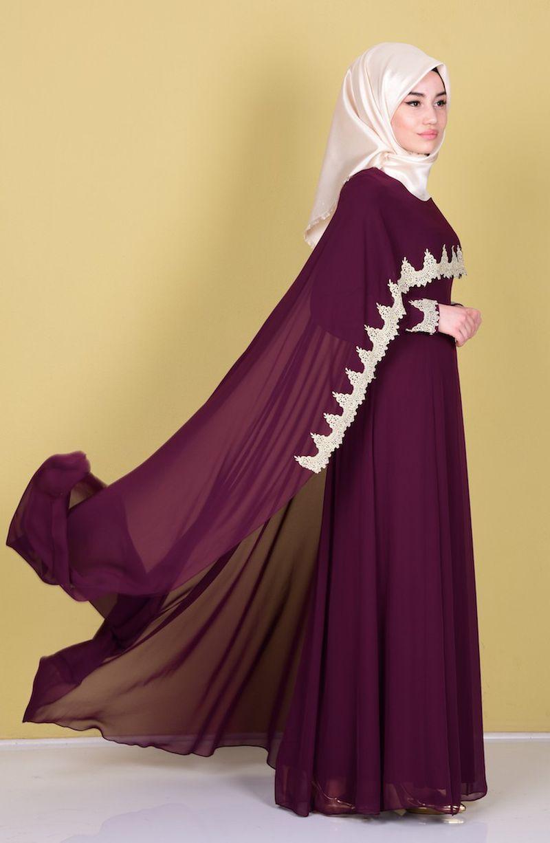 بالصور فساتين سهرة للمحجبات 2019 , احدث وارقي موديلات فستان السهرات للمراة المحجبة 2019 1294 3