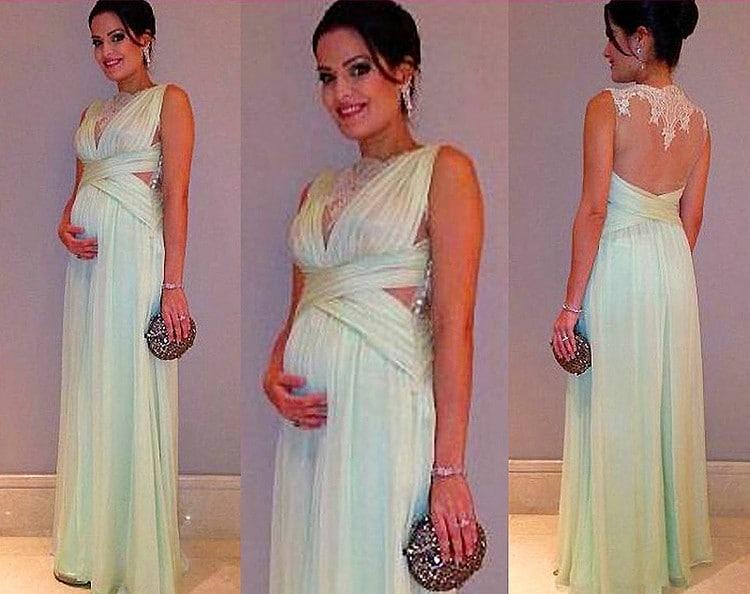 بالصور فساتين اعراس للحوامل , اجمل فساتين افراح للمراة الحامل 1430 5