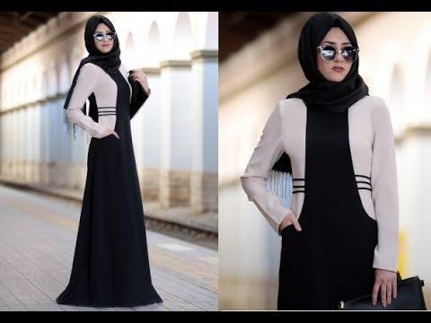 بالصور فساتين محجبات 2019 , اروع فستان طويل للمراة المحجبة 2019 1545 1