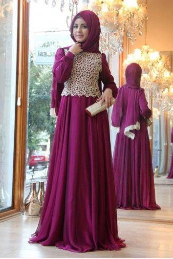 بالصور فساتين محجبات 2019 , اروع فستان طويل للمراة المحجبة 2019 1545 2