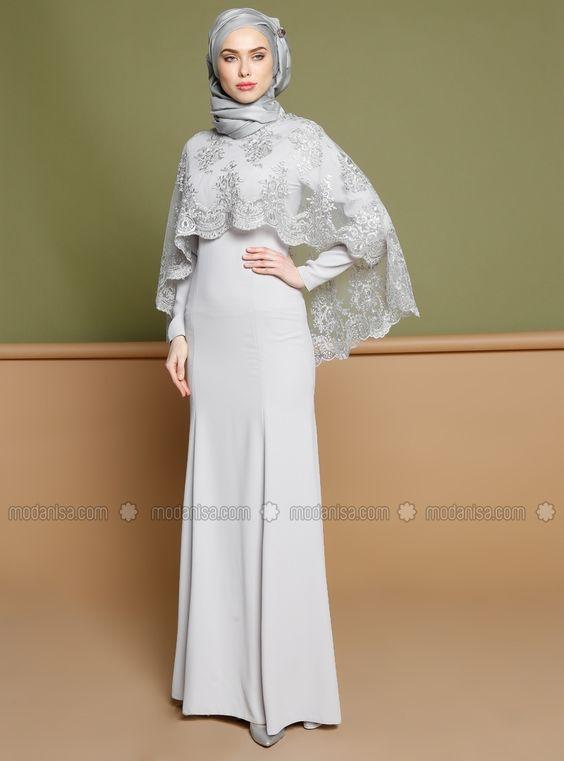 بالصور فساتين محجبات 2019 , اروع فستان طويل للمراة المحجبة 2019 1545 4