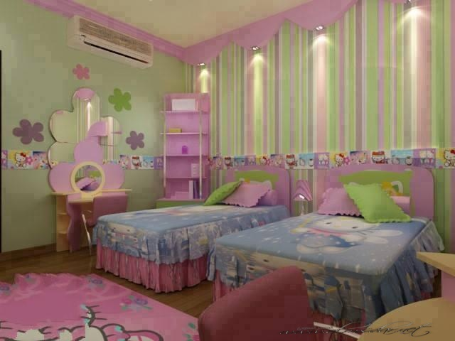 بالصور غرف نوم بنات اطفال , اجمل ديكورات غرف نوم البنات 1680 4