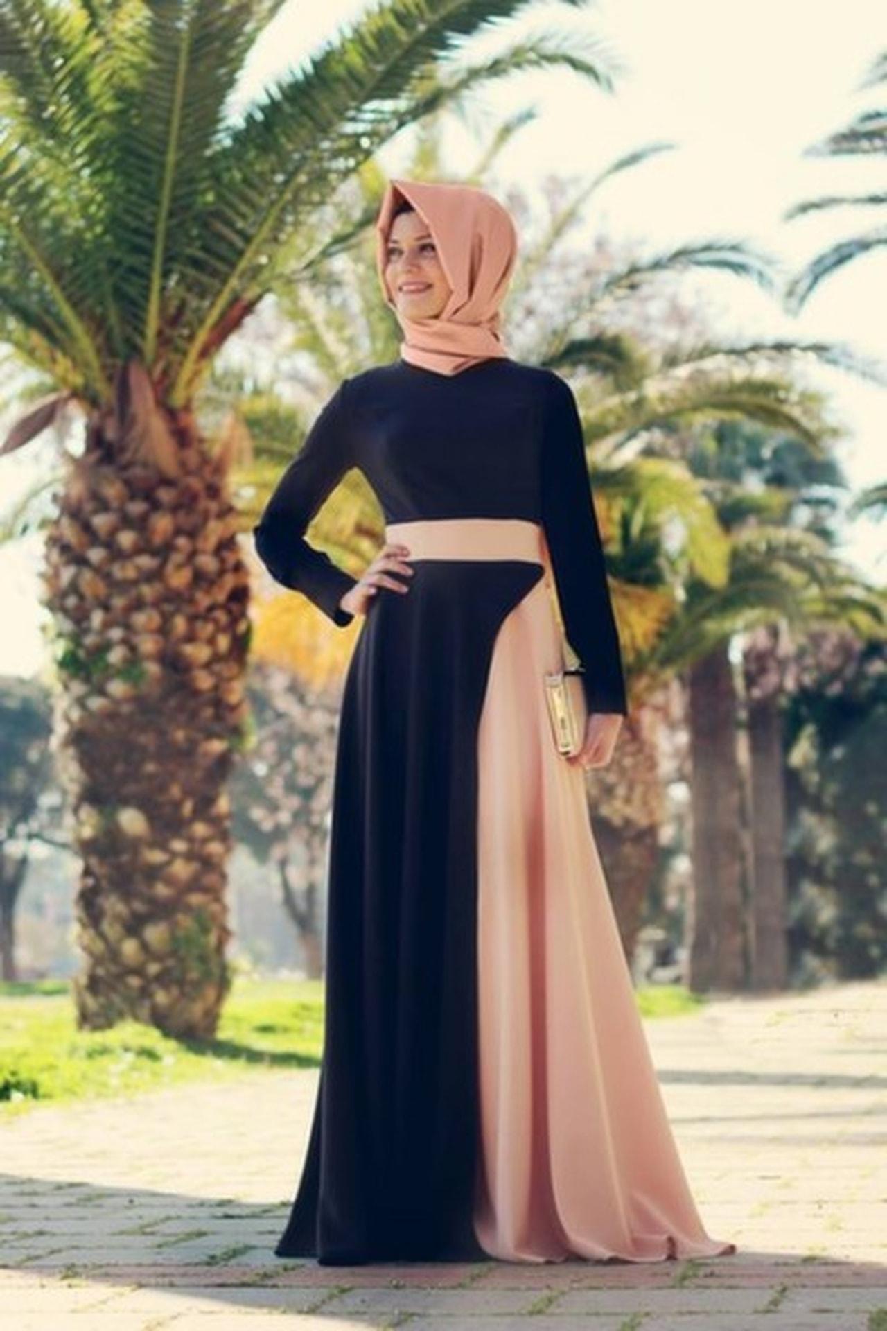 بالصور اجمل الفساتين للمحجبات , ملابس محجبات شيك جدا 1704 1