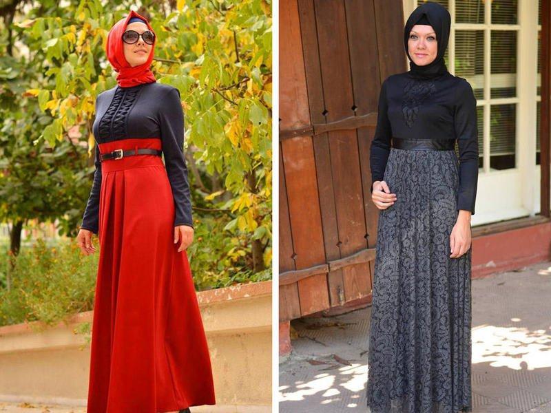 بالصور اجمل الفساتين للمحجبات , ملابس محجبات شيك جدا 1704 11