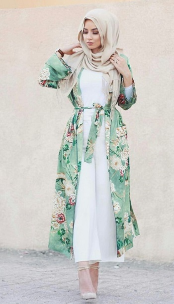 بالصور اجمل الفساتين للمحجبات , ملابس محجبات شيك جدا 1704 2