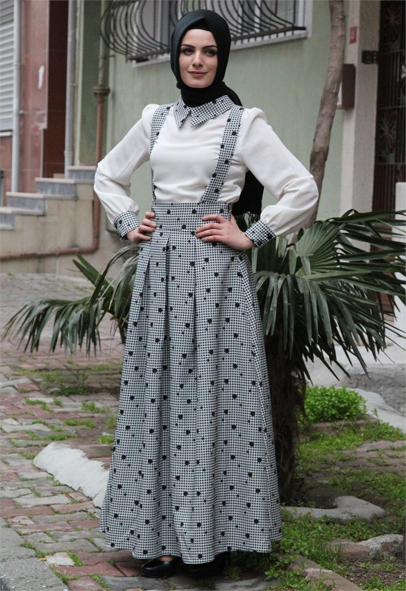 بالصور اجمل الفساتين للمحجبات , ملابس محجبات شيك جدا 1704 3
