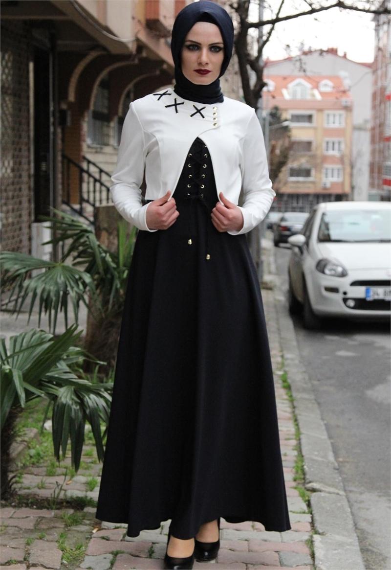 بالصور اجمل الفساتين للمحجبات , ملابس محجبات شيك جدا 1704 4
