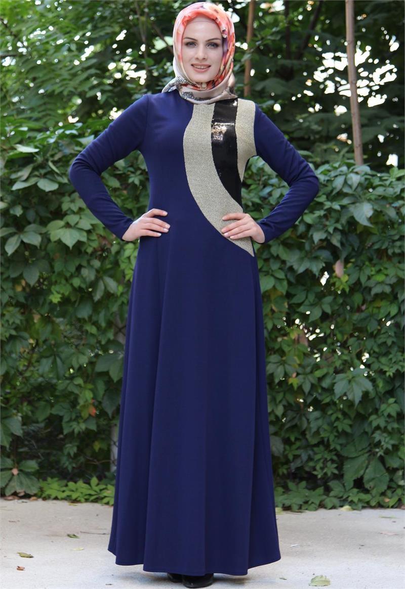 بالصور اجمل الفساتين للمحجبات , ملابس محجبات شيك جدا 1704 5