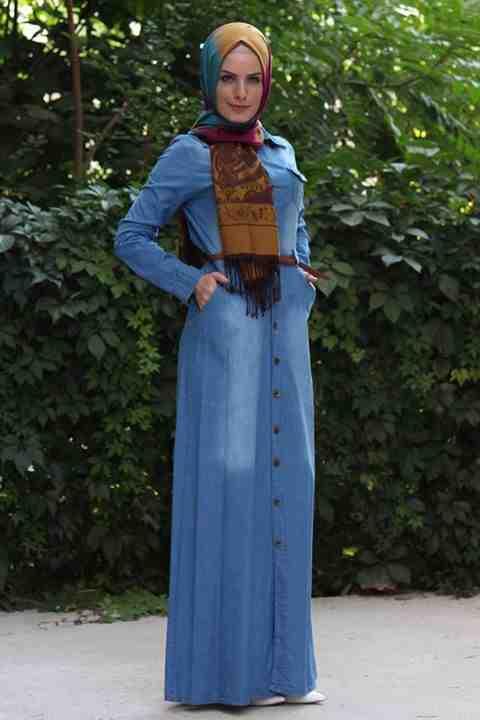 بالصور اجمل الفساتين للمحجبات , ملابس محجبات شيك جدا 1704 6