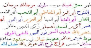 صوره اجمل الاسماء العربية , الاسامى العربية واجمل معانيها