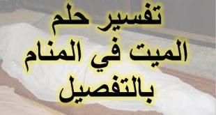 صورة كلام الميت للحي في المنام , تفسير كلام الميت للحى فى المنام