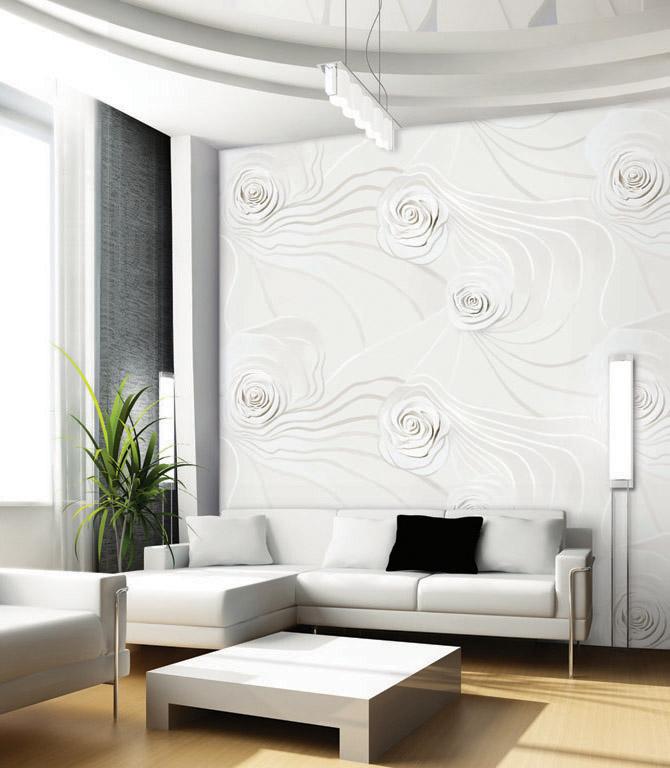 بالصور ورق جدران رمادي , اجمل اشكال ورق جدران رمادى 2049 10