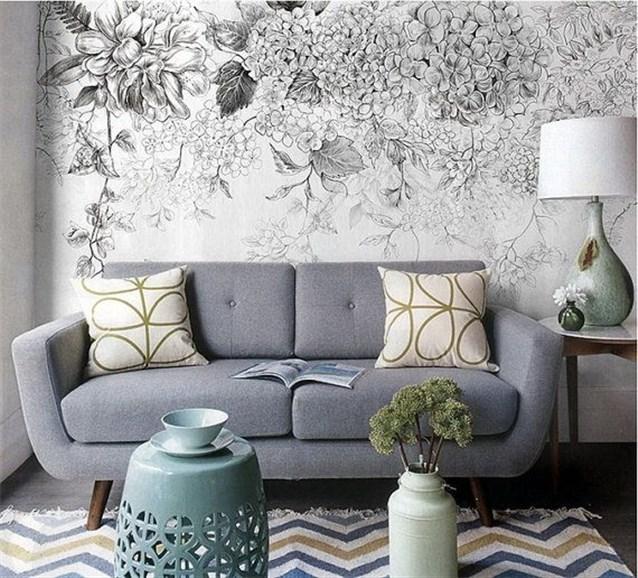 بالصور ورق جدران رمادي , اجمل اشكال ورق جدران رمادى 2049