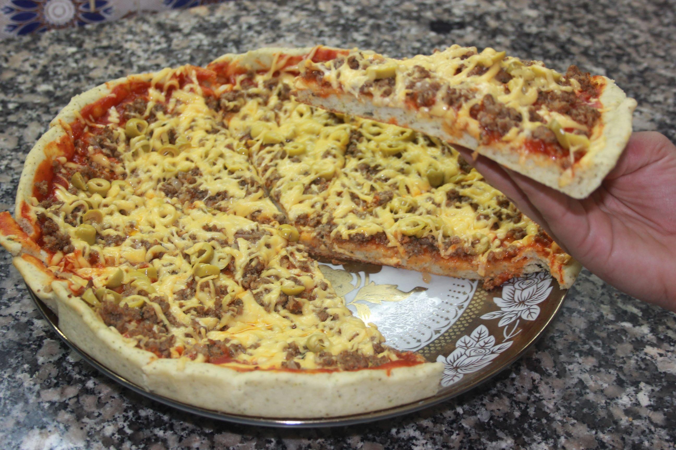 بالصور كيفية تحضير البيتزا , البيتزا في البيت بطريقة سهلة 2703 9