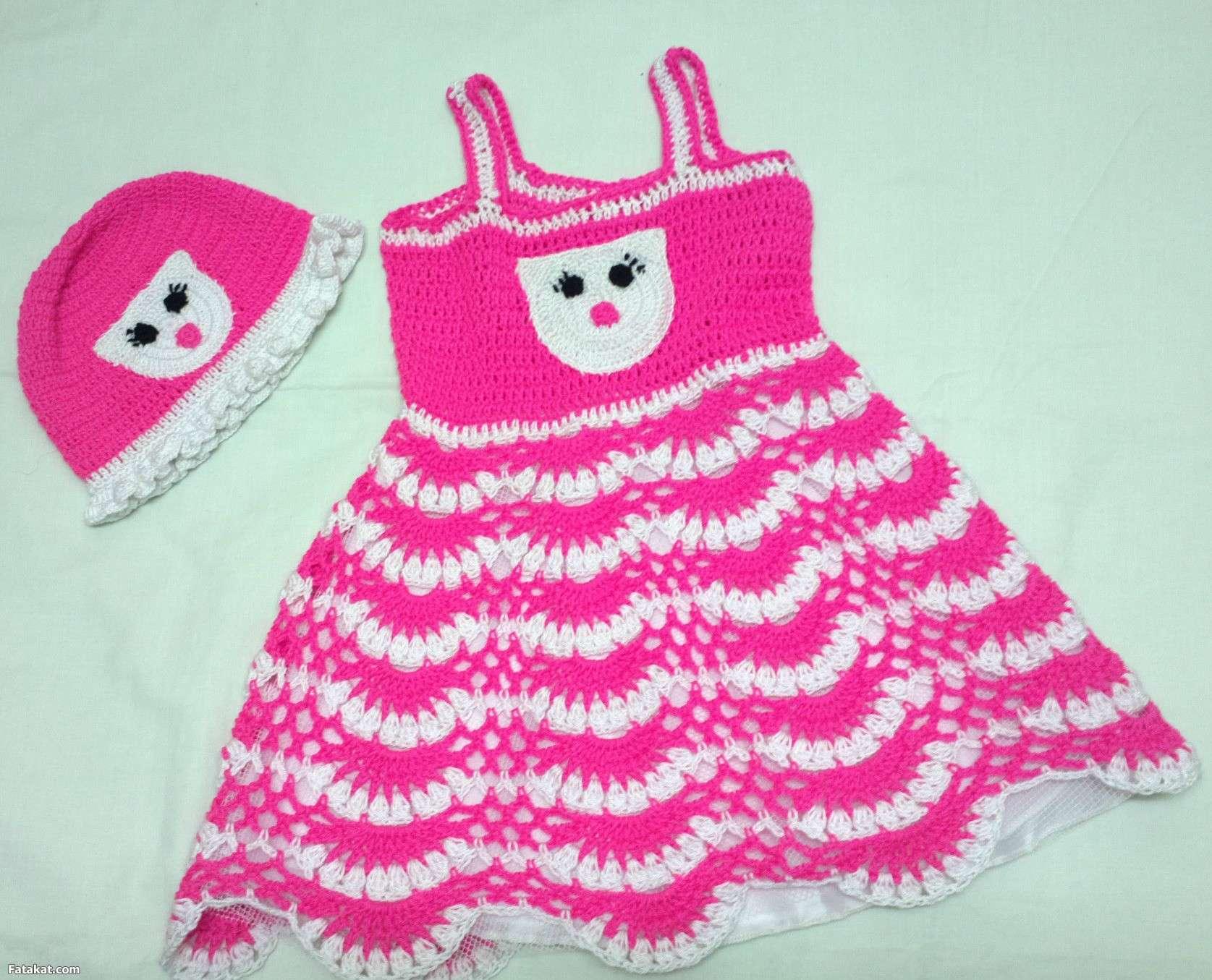 بالصور فساتين كروشيه , اختارى اجمل فستان كروشية لبنوتك 2814 12