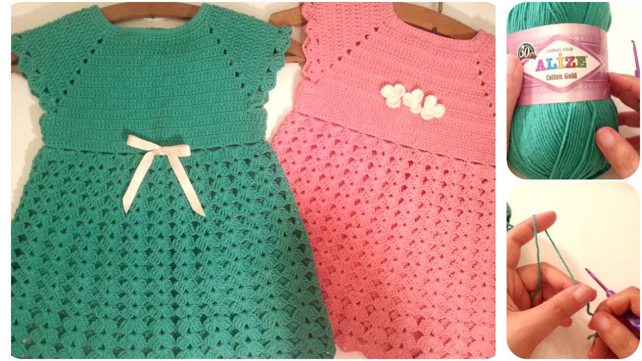 بالصور فساتين كروشيه , اختارى اجمل فستان كروشية لبنوتك 2814 13
