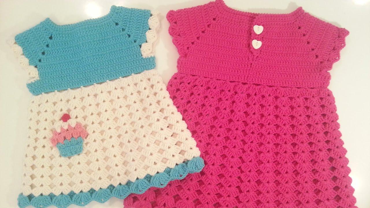بالصور فساتين كروشيه , اختارى اجمل فستان كروشية لبنوتك 2814 14