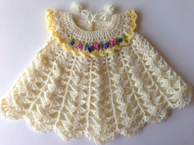 بالصور فساتين كروشيه , اختارى اجمل فستان كروشية لبنوتك 2814 7