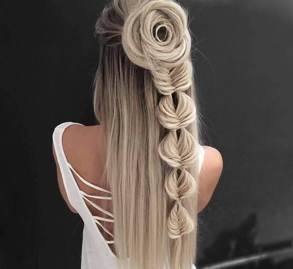 صورة تسريحات للشعر الطويل بسيطة , اجمل قصات لصاحبات الشعر الطويل 5527 2