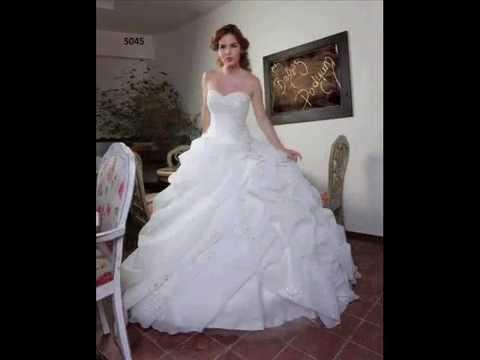بالصور فساتين زفاف فخمه , احلى الفستاتين الجميلة 224 1