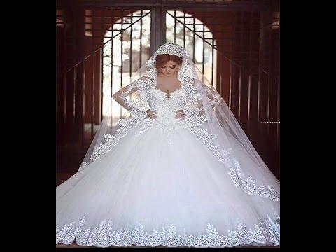 بالصور فساتين زفاف فخمه , احلى الفستاتين الجميلة 224 2