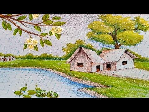 بالصور رسم منظر طبيعي سهل للاطفال , اروع المناظر الطبيعية للاطفال 299 11