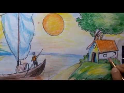 بالصور رسم منظر طبيعي سهل للاطفال , اروع المناظر الطبيعية للاطفال 299 2