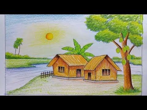 بالصور رسم منظر طبيعي سهل للاطفال , اروع المناظر الطبيعية للاطفال 299 5