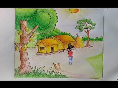 بالصور رسم منظر طبيعي سهل للاطفال , اروع المناظر الطبيعية للاطفال 299 6