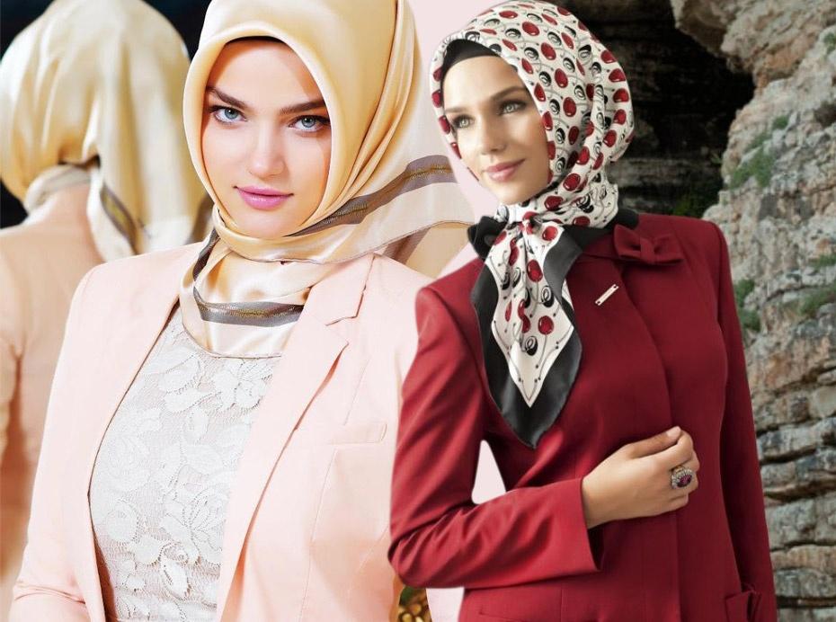 صورة موديلات حجابات تركية , اجمل تشكيله لموديلات الحجاب التركى