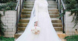 صوره فساتين زفاف محجبات , اجمل واحدث فساتين الزفاف للمحجبات