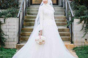 بالصور فساتين زفاف محجبات , اجمل واحدث فساتين الزفاف للمحجبات 6356 14 310x205
