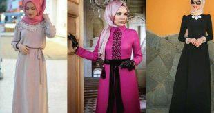 صورة حجابات مخيطة , تشكيله رائعه من الحجاب المخيطه