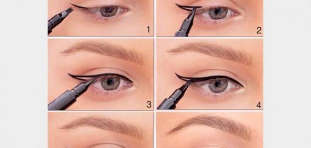 صور كيف رسم العين , طريقه سهله وبسيطه جدا لرسم العين
