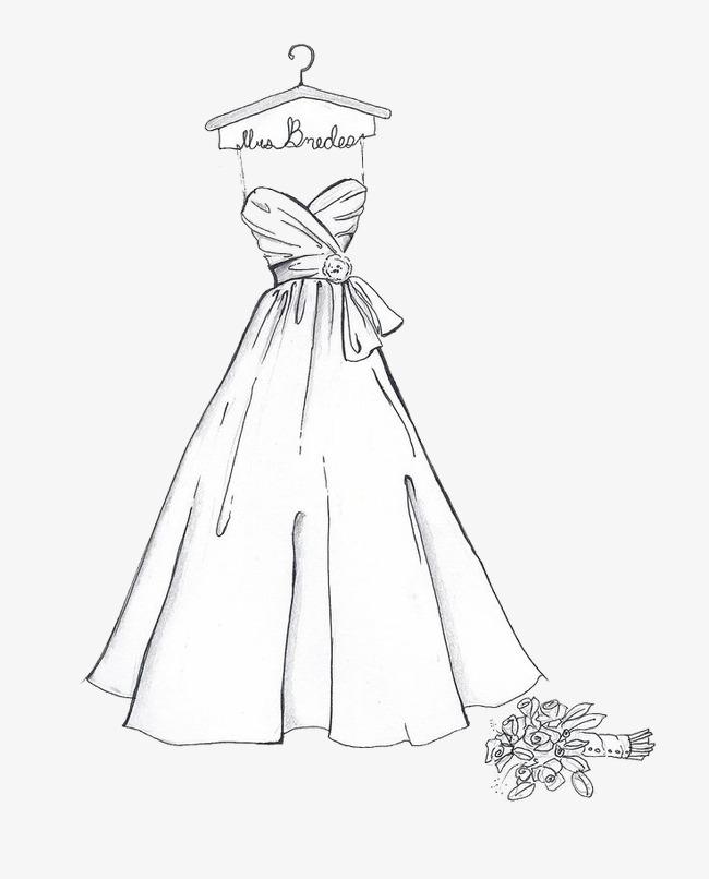 بالصور رسم فساتين زفاف , طريقه رسم فستان الزفاف 12611 11