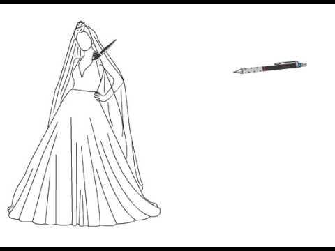 بالصور رسم فساتين زفاف , طريقه رسم فستان الزفاف 12611 12