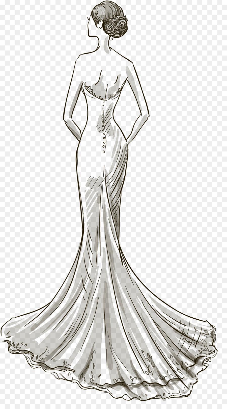 بالصور رسم فساتين زفاف , طريقه رسم فستان الزفاف 12611 13
