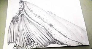 بالصور رسم فساتين زفاف , طريقه رسم فستان الزفاف 12611 14 310x165
