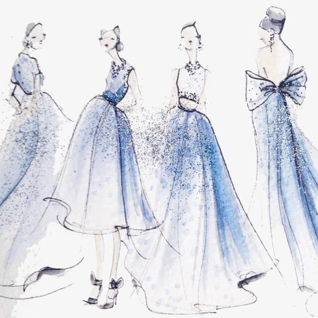 بالصور رسم فساتين زفاف , طريقه رسم فستان الزفاف 12611 2