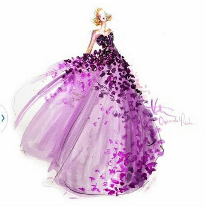 بالصور رسم فساتين زفاف , طريقه رسم فستان الزفاف 12611 3