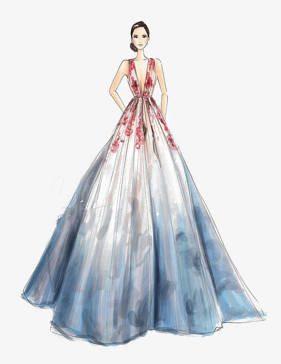 بالصور رسم فساتين زفاف , طريقه رسم فستان الزفاف 12611 4