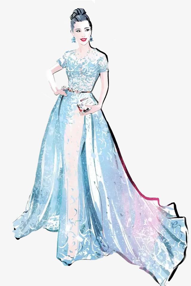 بالصور رسم فساتين زفاف , طريقه رسم فستان الزفاف 12611 5