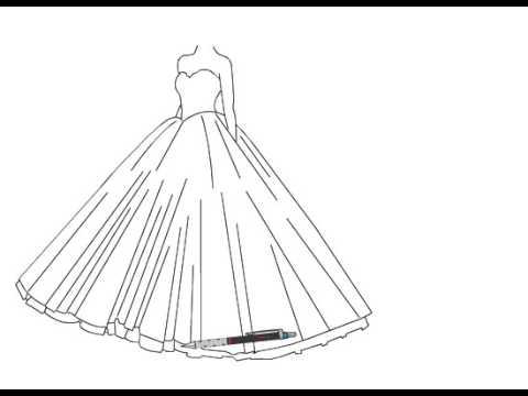 بالصور رسم فساتين زفاف , طريقه رسم فستان الزفاف 12611 7