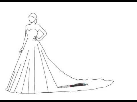 بالصور رسم فساتين زفاف , طريقه رسم فستان الزفاف 12611 8