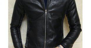 صورة جاكيت جلد اسود رجالي , افخم انواع الجواكت الرجالي الرائعه