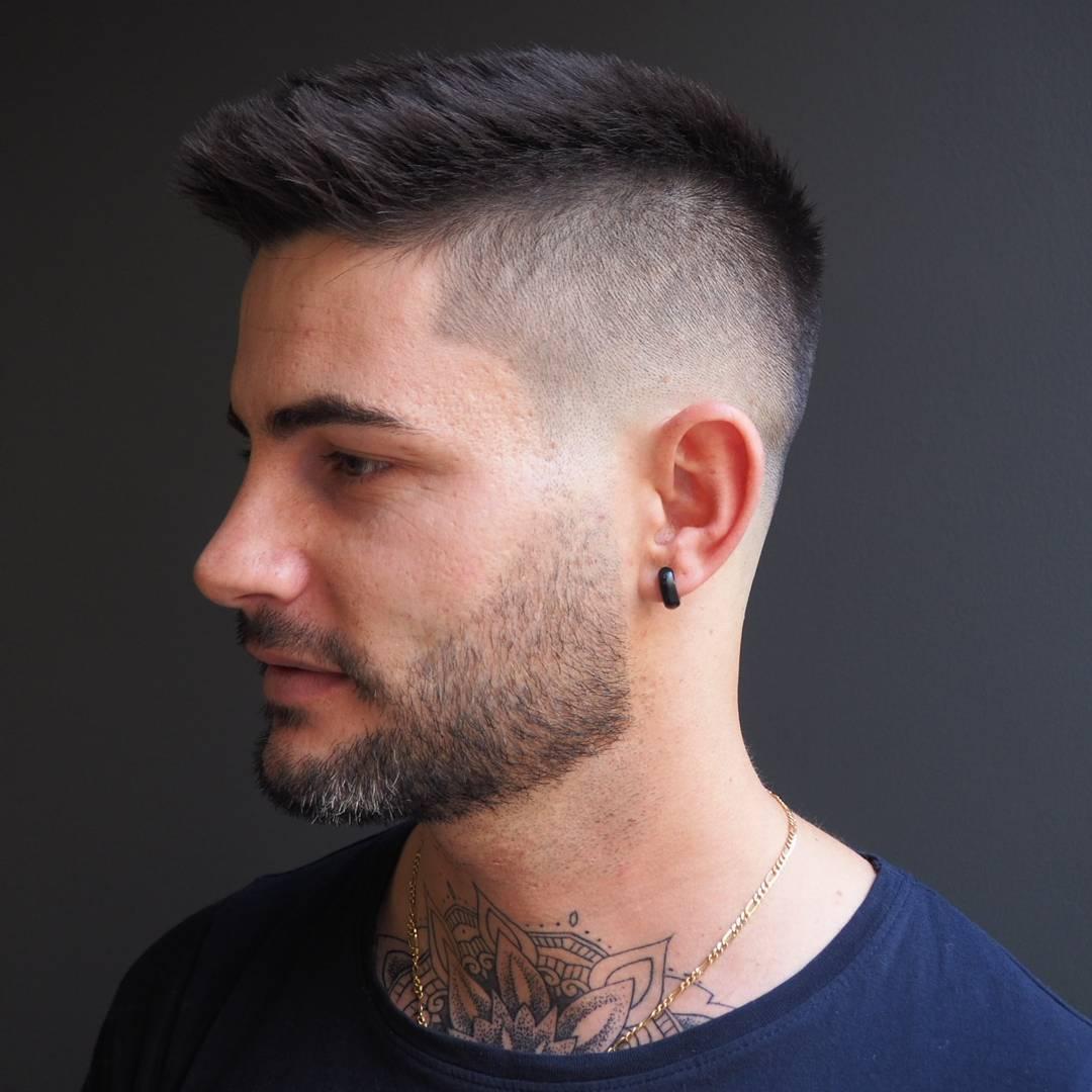 صورة تسريحات الشعر القصير للرجال , اجمل تصميمات الشعر القصير المميز للرجال