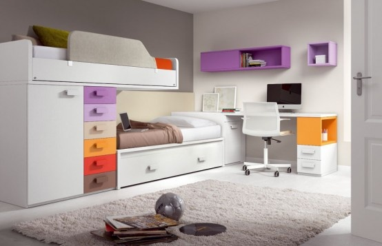صور غرف نوم اطفال للمساحات الضيقة , صور غرف نوم للاطفال المساحات الضيقة